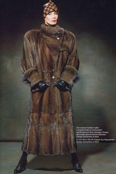 Samantha of Stoll Fur Fashion, Leather Fashion, Fashion Photo, Vintage Fur, Mink Fur, Top Photo, Mantel, Furs, Jackets