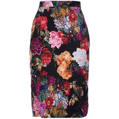 DOLCE & GABBANA Floral pencil skirt ($800) via Polyvore