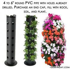 Spring garden ideas- pvc pipe planter