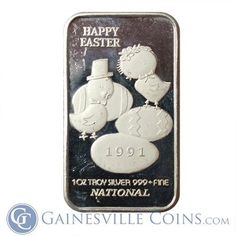 Buy Silver Online from a 5 star ✅ rated online dealer. Get the best prices on all your physical silver ✅. Buy Silver Online, Buy Silver Bullion, Gold And Silver Coins, Chocolate Bunny, Activists, Silver Rounds, 1 Oz, Happy Easter, Holiday Gifts