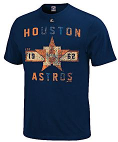 Houston Astros Navy Cooperstown Desire More T Shirt by Majestic $25.95
