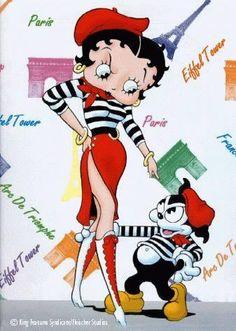 Betty Boop ~ Betty In Paris...WeeWee