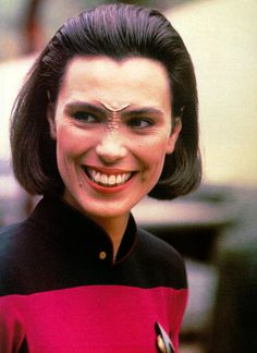 Michelle Forbes as Ensign Ro Laren.