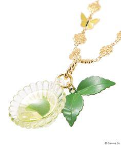 Mint tea Cup Necklace