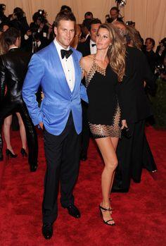 Tom Brady and Gisele Bündchen at the 2013 Met Gala