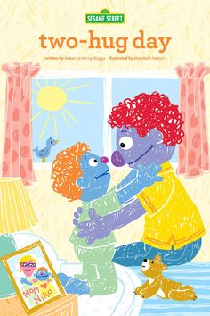 Two-hug day is a storybook about Niko. His parents are divorced, and on two-hug day, Niko changes from living at his Daddy's house to living at his mommy's house. Elementary Counseling, School Counseling, Working With Children, Children And Family, Social Emotional Development, Making Connections, Pbs Kids, Work Tools, Character Education