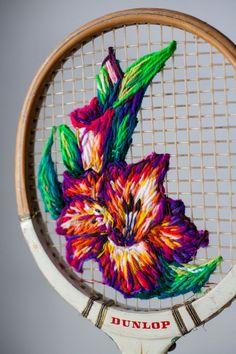 Tennis Rack Art