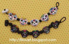 Brazaletes de Calaveras. #bracelet #sculpey #handmade  lilian2677@gmail.com