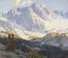 Edgar Payne (American, 1883-1947) Snowy peaks 24 x 28in (overall: 31 1/4 x 35 1/4in)