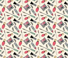 Makeup fabric by nicole_michelle_ray on Spoonflower - custom fabric