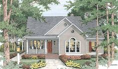 Eplans Cottage House Plan - Creative and Efficient Use of Space - 1539 Square Feet and 3 Bedrooms(s) from Eplans - House Plan Code HWEPL08823
