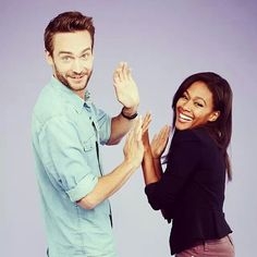 Tom Mison and Nicole Beharie.   I can't! They're so adorable!
