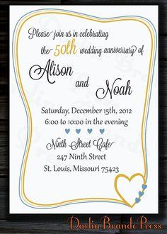50th Anniversary Party Invitation