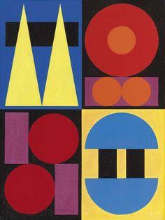 Auguste Herbin (Quiévy 1882 - Paris 1960)  Bleu, 1946  Oil on canvas