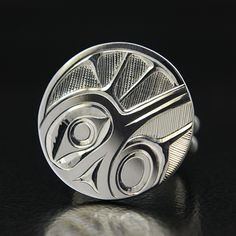 Hollie Bartlett Silver Hummingbird Ring, Northwest Coast Native Art