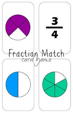 Relentlessly Fun, Deceptively Educational: Fraction Match (in the Grass) Card Game
