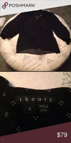 Black sheer Theory blouse size S Like new Theory black sheer blouse size Small. Theory Tops Blouses