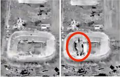 US-led airstrikes blew up a stadium filled with ISIS' explosives, weapons, and ammunition  Read more: http://www.businessinsider.com/us-airstrikes-hit-isis-supply-hub-stadium-video-2015-9#ixzz3lH1iMxBW