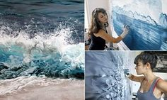 Photograph-like images of sea and ice by artist using her fingers #DailyMail #ZariaForman