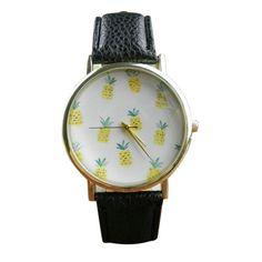 Cute Pineapple Fruit Watches Women Ladies Quartz Watch Fashion Casual PU Leather Analog Wristwatch montre femme
