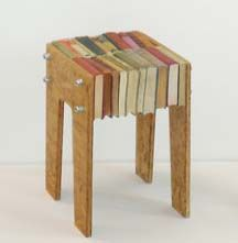 Description : There is no tutorial for the Recycled Book Furniture project, but with a little ingenuity, you should be able to duplicate this design. Book Furniture, Recycled Furniture, Furniture Design, Funny Furniture, Pallet Furniture, Rustic Furniture, Modern Furniture, Recycled Books, Recycled Crafts