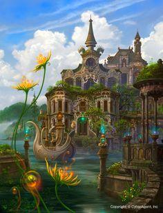 Fantasy castle   ♡ ڿڰۣ-- The Art Of Animation, Kazumasa Uchio