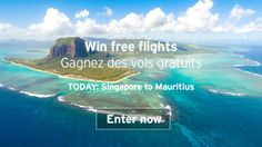 You should enter Air Mauritius 14 Day ticket giveaway. Air Mauritius are giving away free flights every day at the moment and I think one of us could win!