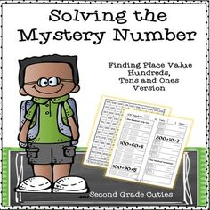 Students will race to solve the hidden picture while practicing their math fluency. (My students love them as an independent 'math club' time.)  Students will learn to recognize hundreds, tens and ones.  These may be completed whole group or as an independent activity.