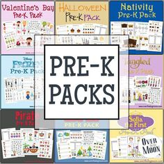 Welcome to our Pre-K Packs page! Our Pre-K Pack and Expansion Packs are designed for ages 2-5! For the original Pre-K Pack click the image of the pack you're interested in. The Expansion Pack's are designed for the older end of the Pre-K spectrum (so 4 or 5 years olds). Click the word Expansion under...