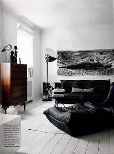 ♂ Masculine black & white interior