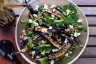Grilled Eggplant, Feta, Walnut With a Honey Dressing.