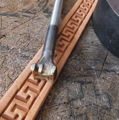 013-14 STARIGHT MEANDER Leather stamp homemade Custom Saddlery Tool by Toolpaw on Etsy https://www.etsy.com/listing/197567593/013-14-staright-meander-leather-stamp