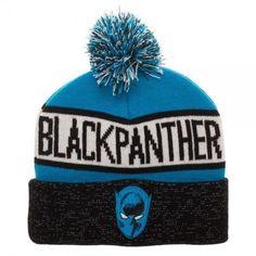 946ac88b770 Black Panther Reflective Cuff Beanie