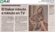 FOX Sports: Cobertura del Rally Dakar 2014 en el diario El Comercio de Perú (05/01/14)