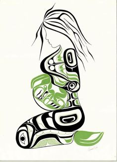 Freda Diesing School of Northwest Coast ArtYou can find Native art and more on our website.Freda Diesing School of Northwest Coast Art Haida Kunst, Inuit Kunst, Arte Haida, Haida Art, Inuit Art, Haida Tattoo, Kunst Der Aborigines, Native Tattoos, Tribal Tattoos