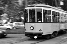Tram in movimento
