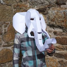 DIY Low Poly Animal Masks for Halloween by Wintercroft ...