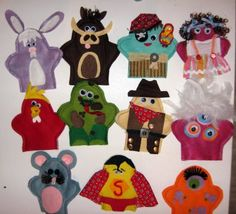 I forgot how fun little hand puppets are.  I need to make more for my kids.