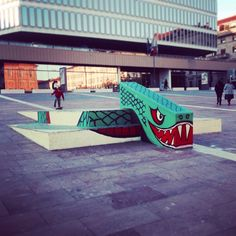 I like this snake graffiti skate ramp in Turin - Photography by Christina Capellaro