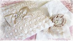 Lovely linens using gorgeous laces and bling from Tresors de Luxe -  https://www.youtube.com/watch?v=9zzxUyXf-R8
