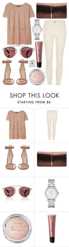 """""""Untitled #658"""" by daimy-style ❤ liked on Polyvore featuring MANGO, River Island, Gianvito Rossi, Nina Ricci, Christian Dior, Marc by Marc Jacobs, Bobbi Brown Cosmetics and Jennifer Lopez"""