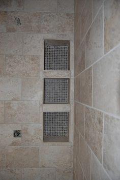 3 shower tile shelves. 1 for each kid. perfect.