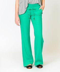 Look what I found on #zulily! Mint Capitola Linen-Blend Pants - Women #zulilyfinds