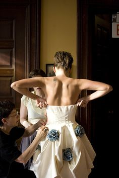 """Great advice, especially about getting the hem to hang 1"""" from the ground! - Bridal Fittings 101: advice from a former tailor shop employee 