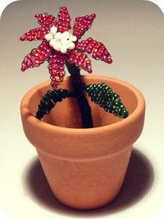 le idee della Vale: Stella di Natale di perline - il TUTORIAL
