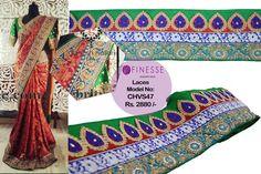 Shop online at www.finesse.in or visit our shop at  #TNagar  or  #Puraswalkam   #wide designer laces   #Laces   #Borders   #FinesseLaces   #Embellishments   #Indianfashion   #Partywear   #Flaunt   #Designer   #Lehenga