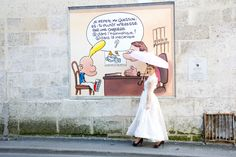 "Painted wall in Angouleme - The comic strip name is ""Titeuf"" by Zep"