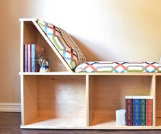 This reading nook is the perfect cozy spot for your little reader to curl up with a good book. Check out the video for further details. Thanks for checking it out. #woodworkingforkids