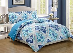 3-Piece Fine printed Abstract Duvet Cover Set KING SIZE -...