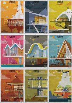 ARCHINOWHERE: Um universo arquitetônico paralelo ilustrado por Federico Babina
